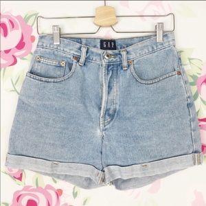 Vintage GAP High Waisted Cuff Jean Shorts